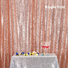 Rose Gold PartyDelight Sequin Backdrop, Booth Photography, 6x6 Ft