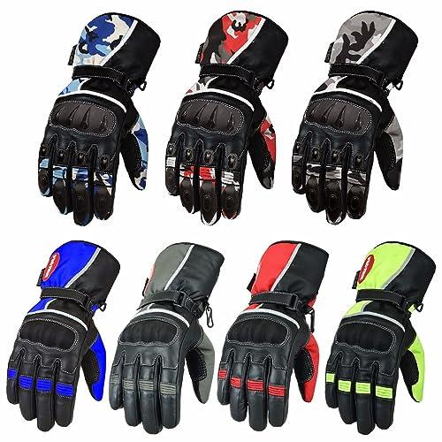 ARTOP Touch Screen Motorbike Anti-slip Anti-Collision Gloves for Men Orange,L Motorcycle Gloves