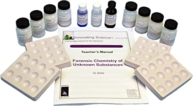 Forensic Chemistry: Unknown Substances Analysis Kit (Materials for 15 Groups)