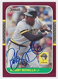 1987 Donruss Opening Day Bobby Bonilla Auto Autograph Signed Rc Card #167 - JSA Certified - Baseball Slabbed Autographed Cards