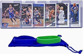 Minnesota Timberwolves Basketball Cards: Karl-Anthony Towns, Taj Gibson, Derrick Rose, Andrew Wiggins, Robert Covington, Jeff Teague, ASSORTED Basketball Trading Card and Wristbands Bundle
