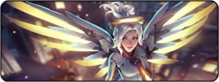 Funky Store Overwatch Large Extended Gaming Mouse Pad Mat, Stitched Edges, Ultra Thick 3 mm, Wide & Long Mousepad 31.5