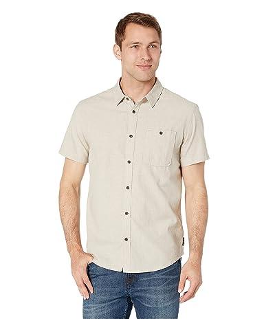 Prana Jaffra Short Sleeve Shirt (Dark Khaki) Men