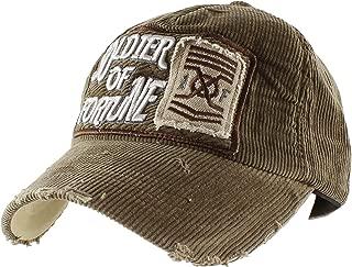 Morehats Soldier of Fortune Corduroy Vintage Style Baseball Cap Adjustable Hat