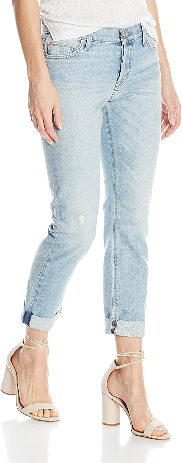 Hudson Jeans Womens Riley Crop Relaxed Straight Jeans