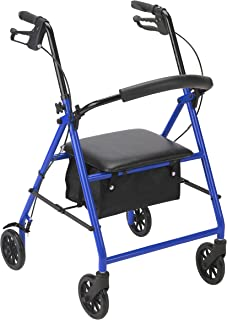 Drive Medical Rollator with Wheels, Blue
