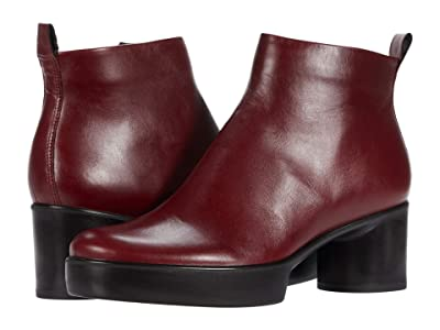 ECCO Shape Sculpted Motion 35 Ankle Boot (Syrah) Women