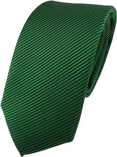 TigerTie - Modische Designer Krawatte in fein gestreift - Krawatte 7 cm Breite