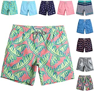 Mens Quick Dry Printed Short Swim Trunks with Mesh Lining Swimwear Bathing Suits