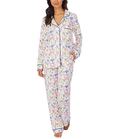 BedHead Pajamas Long Sleeve Classic Notch Collar Pajama Set (Cotton Spandex)