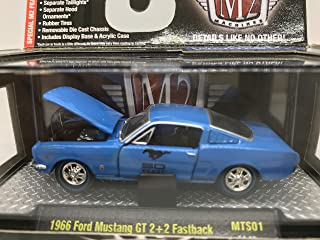 M2 Machines Detroit-Muscle 1966 Ford Mustang GT 2+2 Fastback 1:64 Scale MTS01 14-19 Blue Details Like NO Other! 1 of 6000