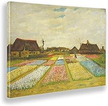 Giallobus - Schilderijen - Vincent Van Gogh - Bloembedden in Holland - Canvasdoek - 100x70 - Klaar om op te hangen - Moder...