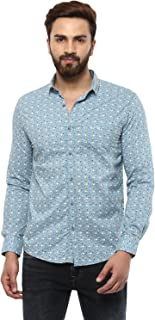 Mufti Button Down Printed Full Sleeves Shirt