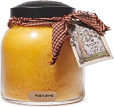 A Cheerful Giver Rise N Shine 34 oz Papa Jar Candle, Yellow