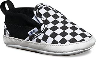 Infant Checker Slip-On Black/True White Crib Shoes