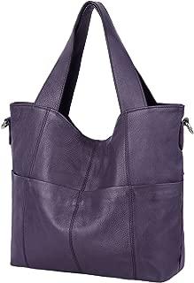 YALUXE Shoulder Bag Leather Tote for Women elegant Top Handle Handbags for women with Shoulder Bag Leather Strap Black