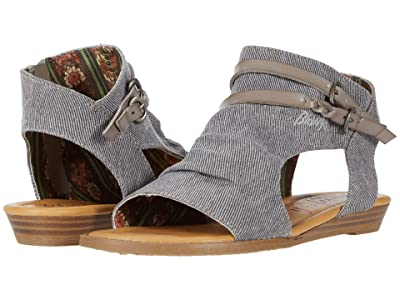 Blowfish Kids Blumoon-K (Little Kid/Big Kid) (Grey Smokey Twill/Smoke Dyecut PU) Girls Shoes