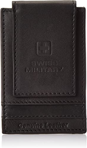 Swiss Military Leather Black Men's Wallet (LW35)