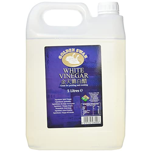 Golden Swan White Vinegar, 5 Litre, Pack of 4