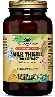 Solgar - Standardized Full Potency Milk Thistle Herb Extract, 150 Vegetable Capsules