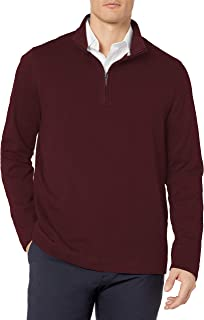 Geoffrey Beene Mens Long Sleeve Stretch Twill 1/4 Zip Pullover