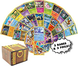 Pokemon Cards 50 Card Assorted Lot - Commons/Uncommons - Rares - Foils! Repack! Includes Golden Groundhog Treasure Chest S...