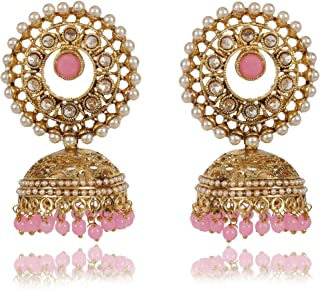 c782dcc30 Shining Diva Fashion Latest Design Stylish Antique Gold Plated Party Wear  Traditional Pearl Jhumki Earrings for