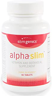 SlimGenics Alpha-Slim ™ | Carb Blocker, Block Up to 300 Calories Per Meal - Reduce Cravings, Increase Fat Burning, Includes White Kidney Bean Extract - Promotes Healthy Weight Loss (90 Count)