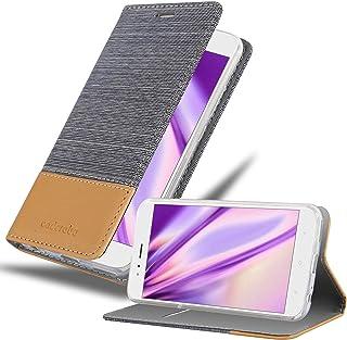 Cadorabo Funda Libro para Xiaomi Mi A1 / Mi 5X en Gris Claro MARRÓN – Cubierta Proteccíon con Cierre Magnético, Tarjetero y Función de Suporte – Etui Case Cover Carcasa