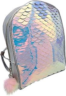 Sleekly Mermaid Backpack, Back-to-School Bags for Teenage Girls, Fish Scale Printed School Book Bag