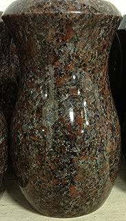 7x4-D Dakota Mahogany Granite Monument Vase Cemetery Tombstone Headstone Gravestone Flower Memorial Company Prices head stones