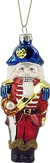 Captain Nutcracker Glass Blown Hanging Christmas Ornament