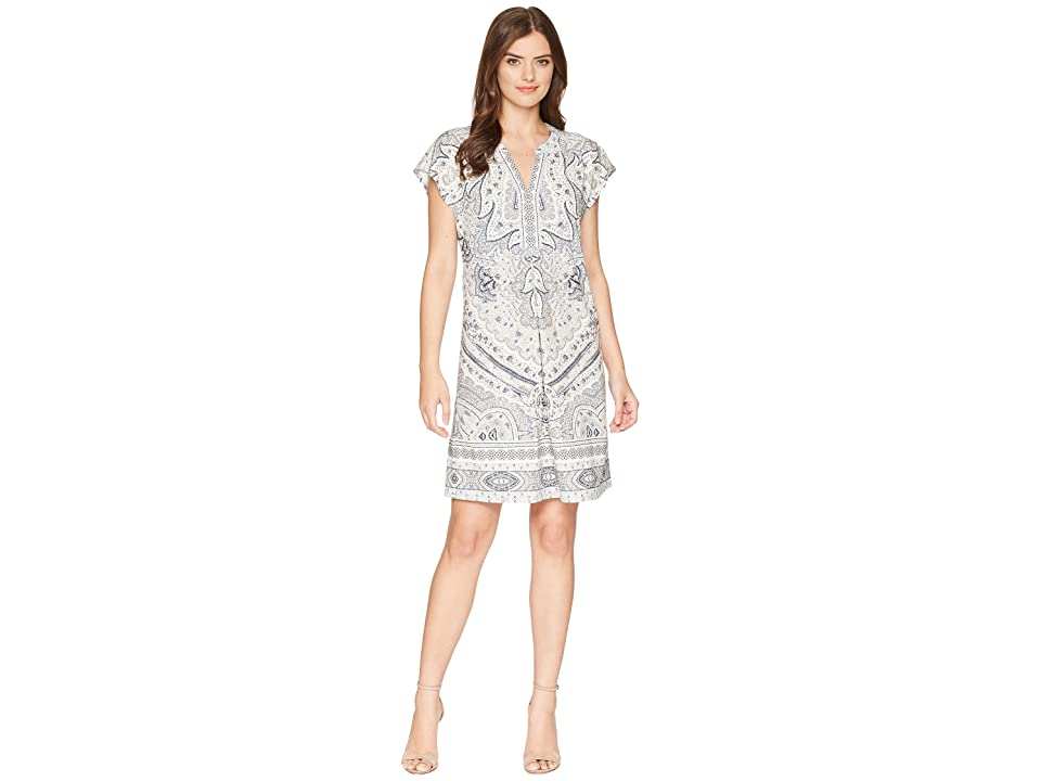 Hale Bob Modern Mosaic Microfiber Jersey Dress (Beige) Women