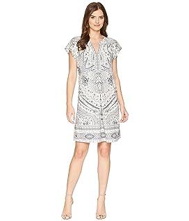 Modern Mosaic Microfiber Jersey Dress