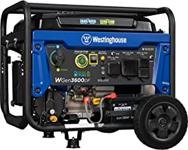 Westinghouse WGen3600DF Dual Fuel (Gas and Propane) Electric Start Portable Generator..