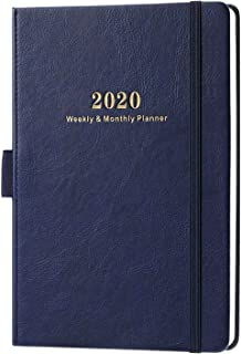 2020 Planner - Weekly & Monthly Planner with Calendar Stickers, 5.75