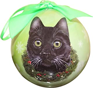 Black Cat Christmas Ornament Shatter Proof Ball Easy To Personalize A Perfect Gift For Black Cat Lovers