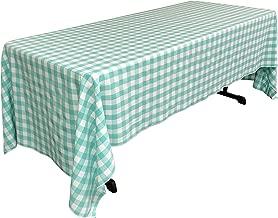 """بطانة LA مفرش طاولة ، 60متقلب بواسطة 120-inch ، مرجاني, Mint, 60"""" X 120"""""""