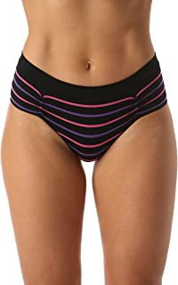Seamless Bikini Underwear with Ruched Detailing Solids & Stripes (6 Pack)