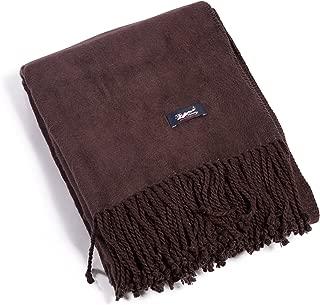 Fishers Finery Micro Velvet Plush Throw Fleece Blanket; Gift Box Included (Chocolate)