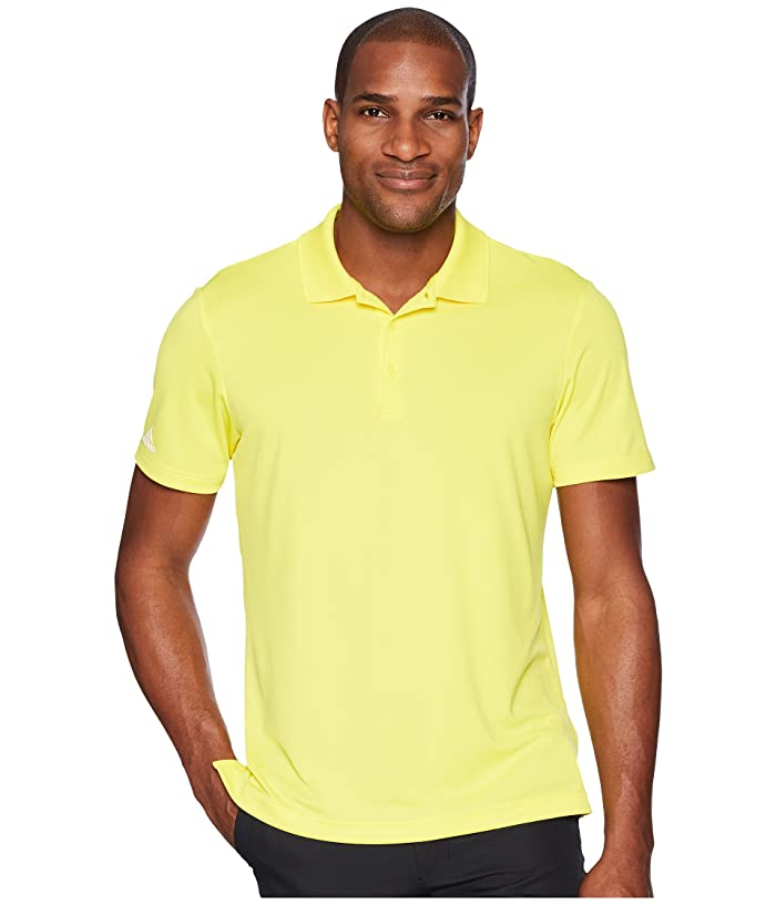 adidas Golf  Performance Polo (Bright Yellow) Mens Clothing