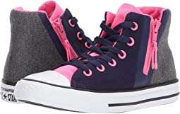 Converse Kids - Chuck Taylor All Star Sport Zip - Hi (Little Kid/Big Kid)