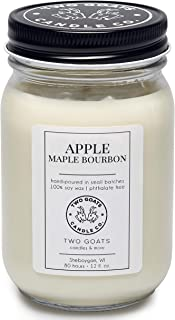 Apple Maple Bourbon Scented Soy Candle | Hand Poured in the USA | 12 oz.