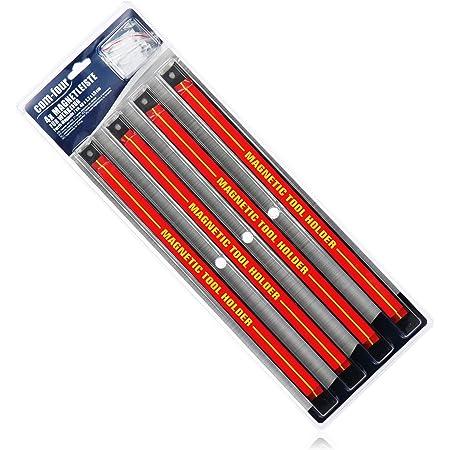com-four® 4X Portaherramientas magnético - Banda magnética para Herramientas - Carril magnético para el Taller - Almacenamiento de Herramientas - 40 cm