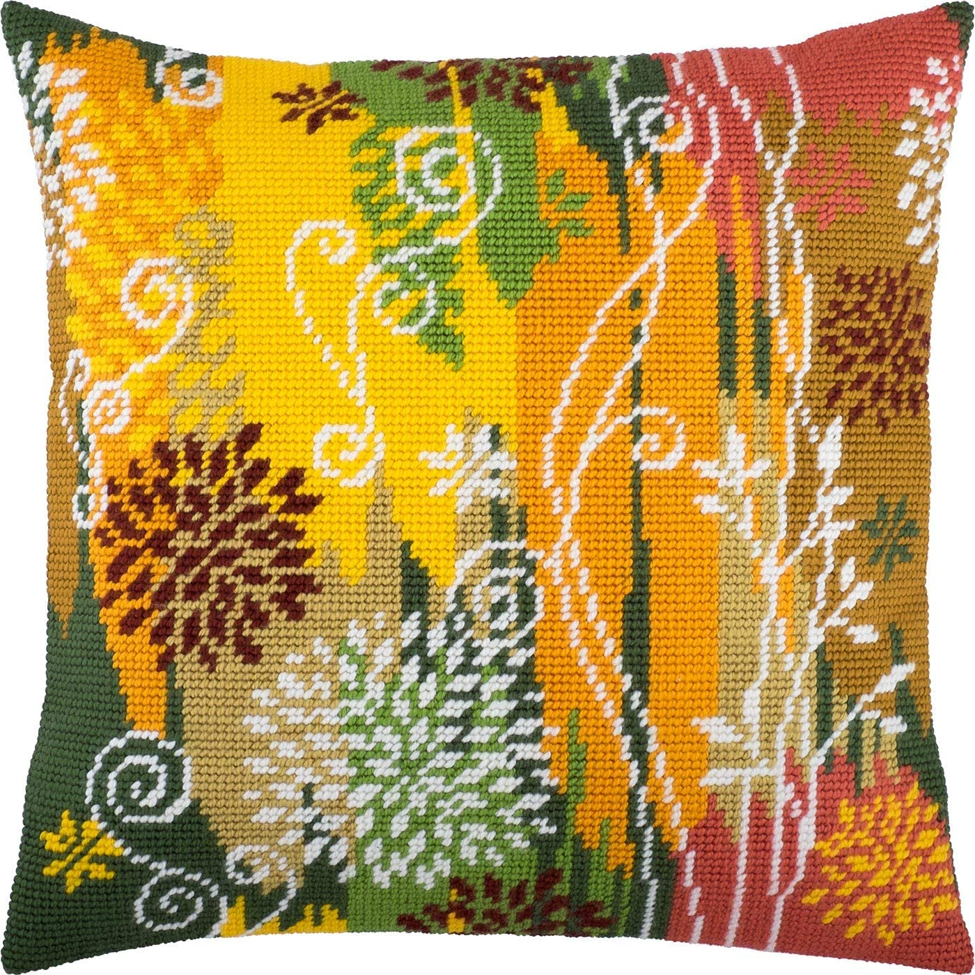 Be super welcome Autumn. Needlepoint Kit. Throw Pillow Tape Inches. 16×16 Printed Import
