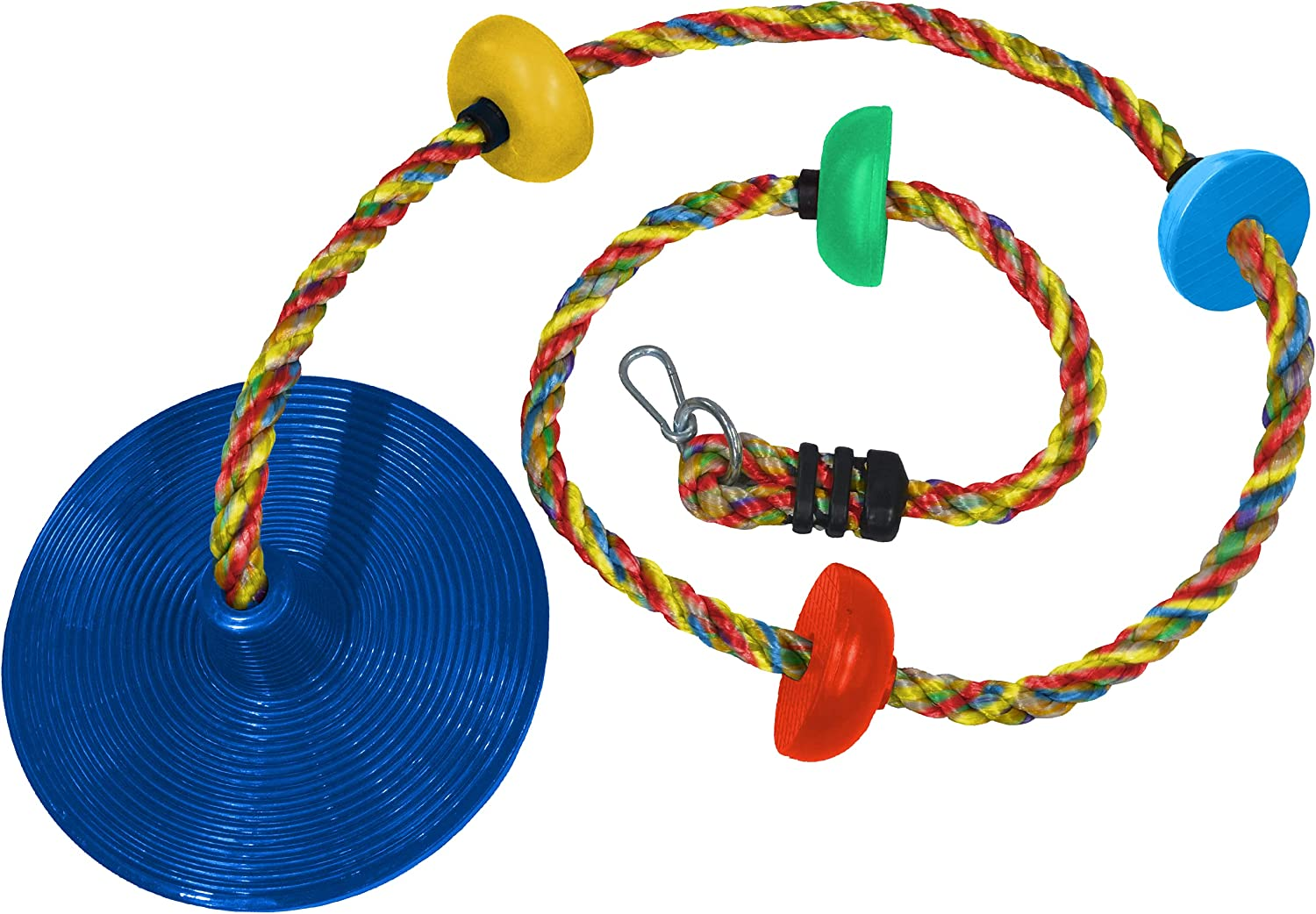 Jungle 25% OFF Gym Kingdom Tree Swing Multicolor Rope Fashion with Plat Climbing