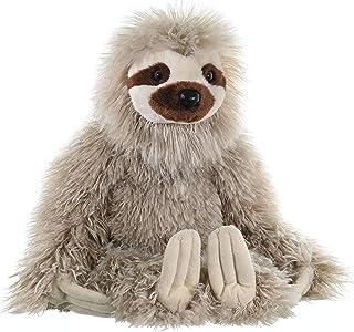 "Wild Republic 12257 Three Toed Sloth, Stuffed Animal, Plush Toy, Gifts for Kids, Cuddlekins, 12"" Grey"
