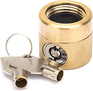Flow Security Systems | The FaucetLock | Heavy Duty Brass Construction | Prevents Water Theft & Secures Outdoor Bibbs | Promotes Water Conservation | Keyed The Same | FSS 50 | 1 Pack