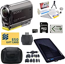 Sony HDR-AS30V HD POV Action Camcorder with 47stPhoto Ultimate Accessory Kit Includes - 32GB High-Speed Micro SD Card + Card Reader + NP-BX1 1400mAh Li-ion Battery + Hard Shell Carrying Case + Solar Battery Charger/ Backup + Lens Cleaning Kit including LCD Screen Protectors Photo Print