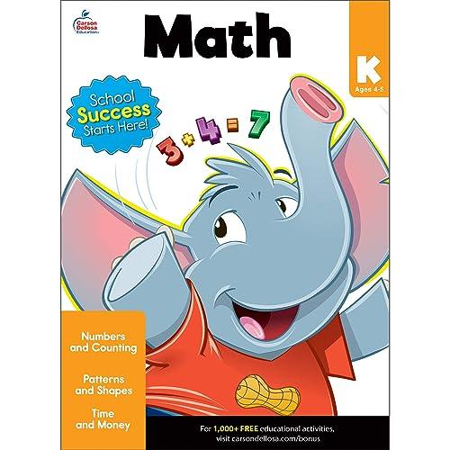 Carson Dellosa   Math Workbook   Kindergarten, 80pgs (Brighter Child: Grades K)